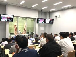 京都食肉市場で50周年記念牛枝肉共進会、西川貴大さんが最優秀賞1席