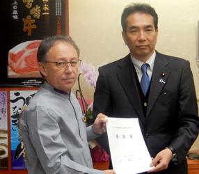 玉城沖縄県知事が江藤農相にCSF感染拡大防止対策で要請