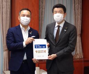 三重県、鈴木知事が野上大臣に家畜伝染病防疫対策の支援等要請